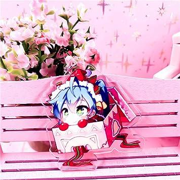 Gyrate Hatsune Miku Anime Figura Llavero Llavero acrílico ...