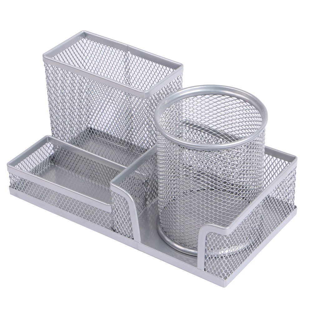 Eagle Mesh Wire Multi-Functional Desk Organizer,Pen Holder,with a Movable Pencil Cup