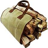 Waterproof Waxed Canvas Fire Bag Handmade by Hide & Drink :: Swayze Suede