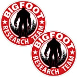 "AZ House of Graphics Bigfoot Research Team RED - 2 Pack Stickers - 4"" x 4"""