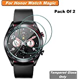 Iloft High Definition Ultra Clear Tempered Glass Screen Protector for Huawei Honor Watch Magic Smartwatch (Pack of 2)