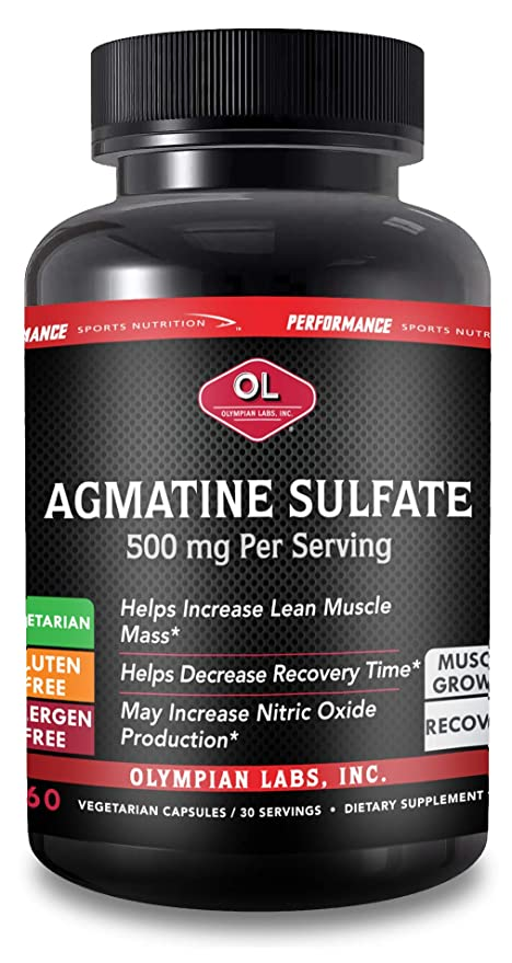 Performance Olympian Labs Agmatine Sulfate Supplement, 60-Count