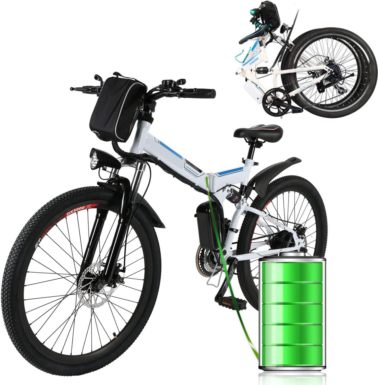 Laiozyen Bicicleta Eléctrica Plegable 250W Unisex Adulto Bicicleta ...
