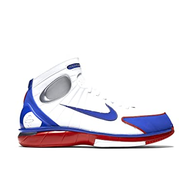 7b0630528c0c Nike Men s Air Zoom Huarache 2K4 White Red Metalic Silver 308475-100 (Size   10. 5)  Buy Online at Low Prices in India - Amazon.in
