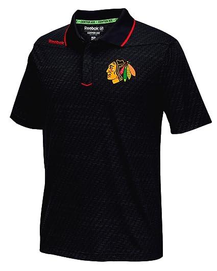 1f576dd7 Reebok Chicago Blackhawks NHL 2016 Center Ice Travel Speedwick Polo Shirt
