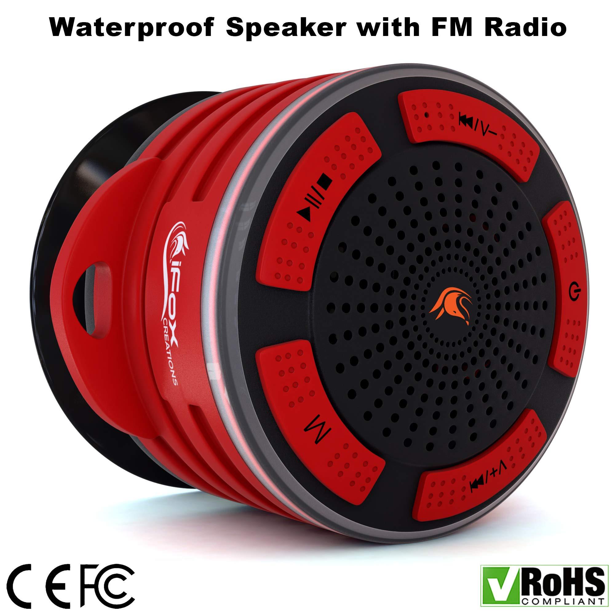 iF014 Waterproof Bluetooth Speaker & Shower Radio - Play...