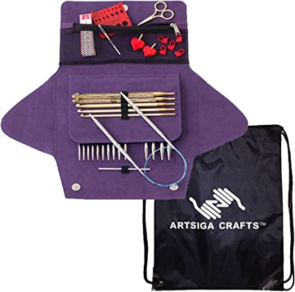 Addi Click Basic Interchangeable Circular Knitting Needle System with Gold Cords