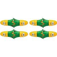 Joie Corn Star Interlocking Corn on the Cob Holders (2 pairs each), Yellow - 2 pack (8 picks total)