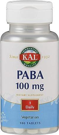 Kal 100 Mg Paba Tablets, 100 Count