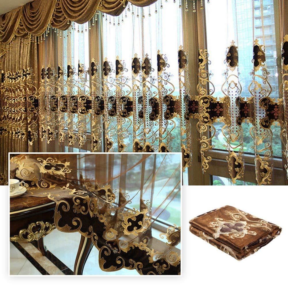 Dulcii 1 Piece Romantic Modern Dining Room Living Room Drapery Valances Window Blackout Curtain (39'' W x 110'' H) by Dulcii