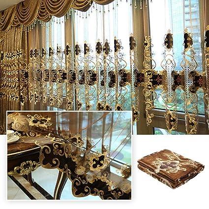 Amazon Com Dulcii 1 Piece Romantic Curtain Modern Dining Room