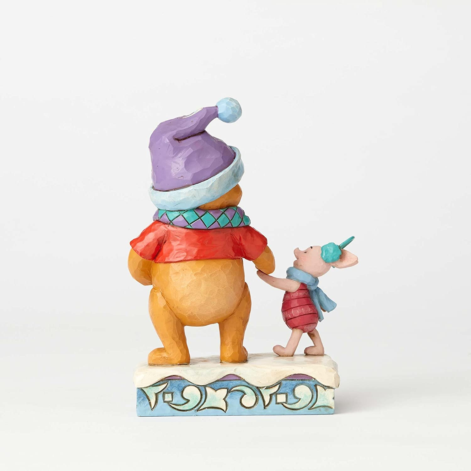 Jim Shore Disney Traditions by Enesco Winter Pooh and Piglet Figurine