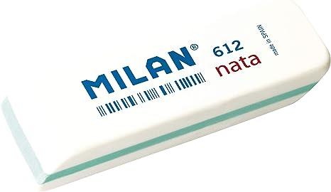 Milan 612 - Goma de borrar, color blanco, Caja 12 Unidades: Amazon ...