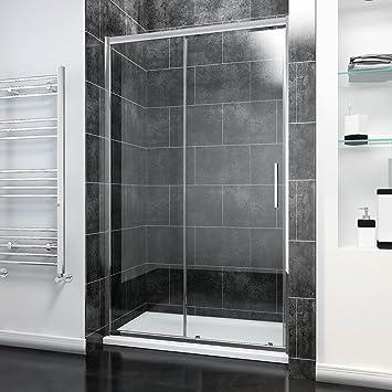 Modern Square Bath Shower Screen 1400mm High x 800mm Wide 8mm Glass