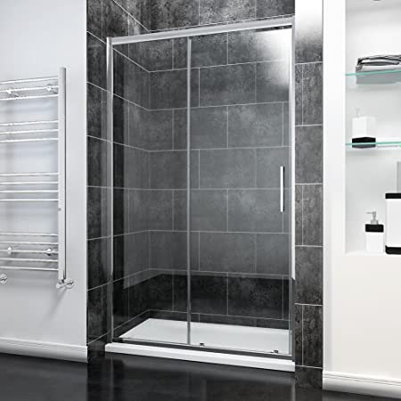 Elegant 1200mm Sliding Shower Door Modern Bathroom 8mm Easy Clean