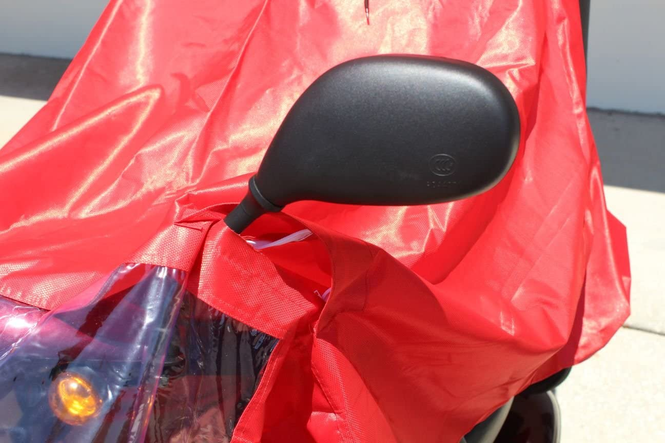 Challenger Mobility Rain Poncho Cape, Red: Health & Personal Care