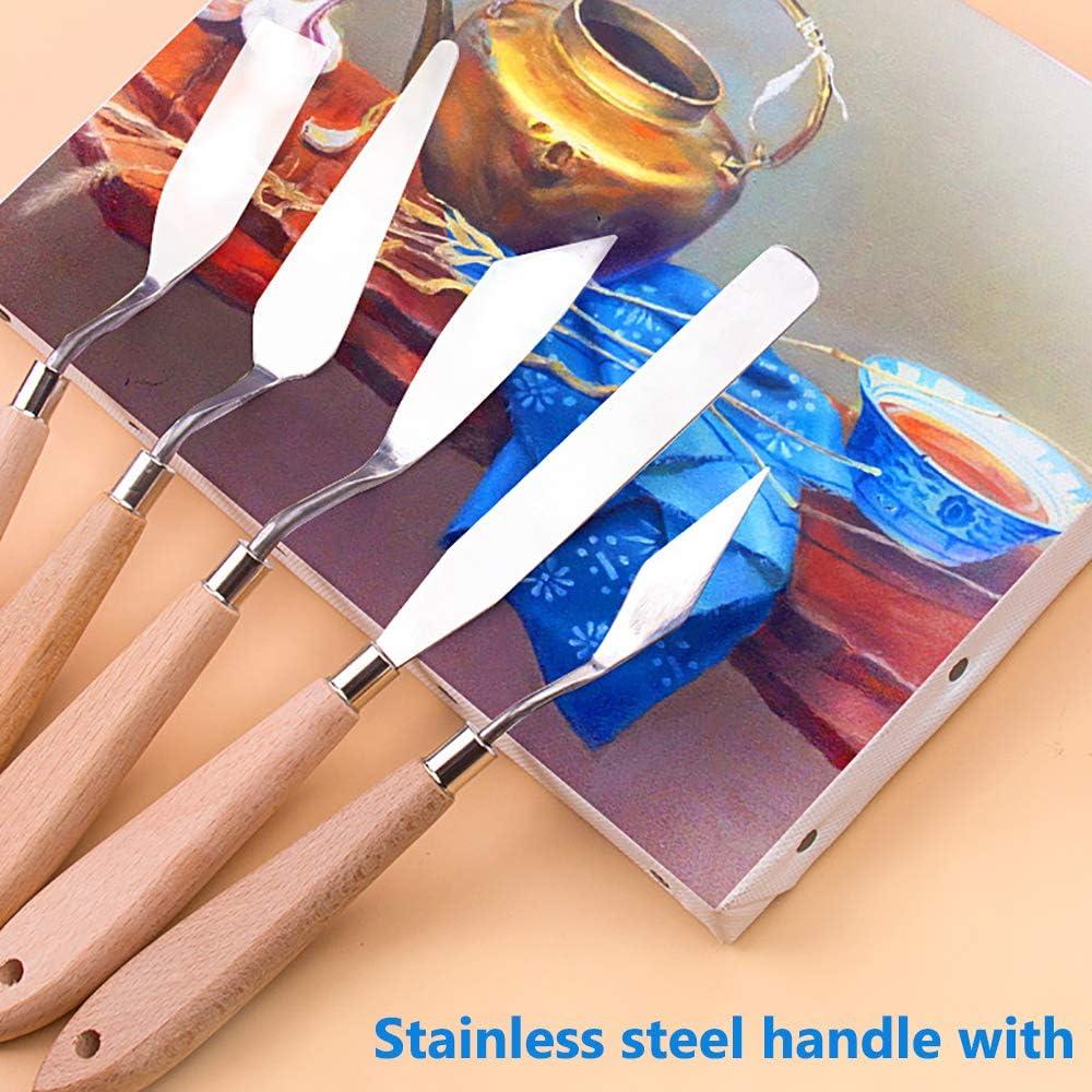 Aifuda Palettenmesser-Set mit Malpinseln 10-teilig