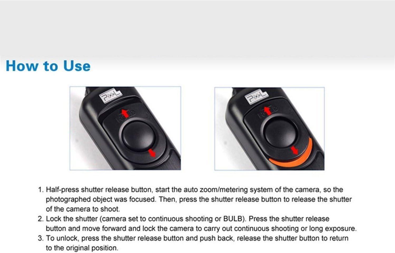 Photo Plus Remote Shutter for Panasonic DMC-FZ50 FZ30 FZ20 LC-1