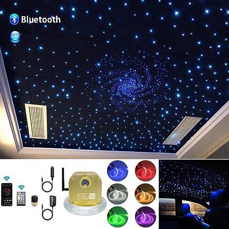 Amazon Com Akepo 16w Car Home App Twinkle Music Activated Fiber Optic Lights Kit Star Ceiling Light Rgbw Led Light Engine Driver Optical Fiber Cable 335pcs 9 8ft 3m 0 75 1 0 1 5mm 28key Remote Control