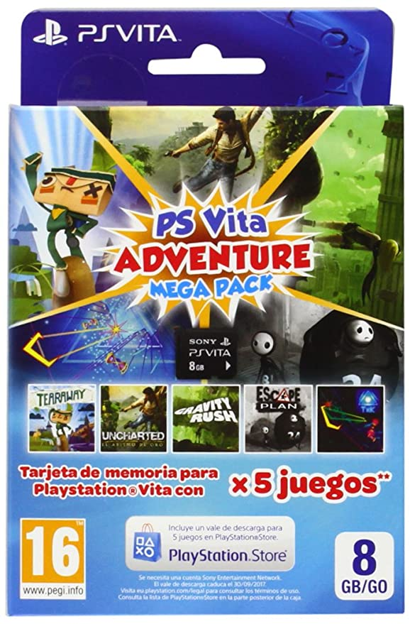 Sony - Tarjeta De Memoria 8 GB + Adventure Mega Pack (PS ...