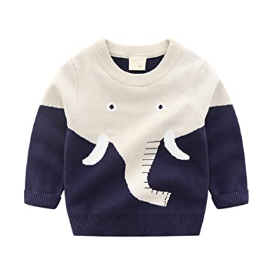 6e655956c76e Amazon.com  HUAER  Baby Boys Girls Knit Sweater Unisex Cotton ...