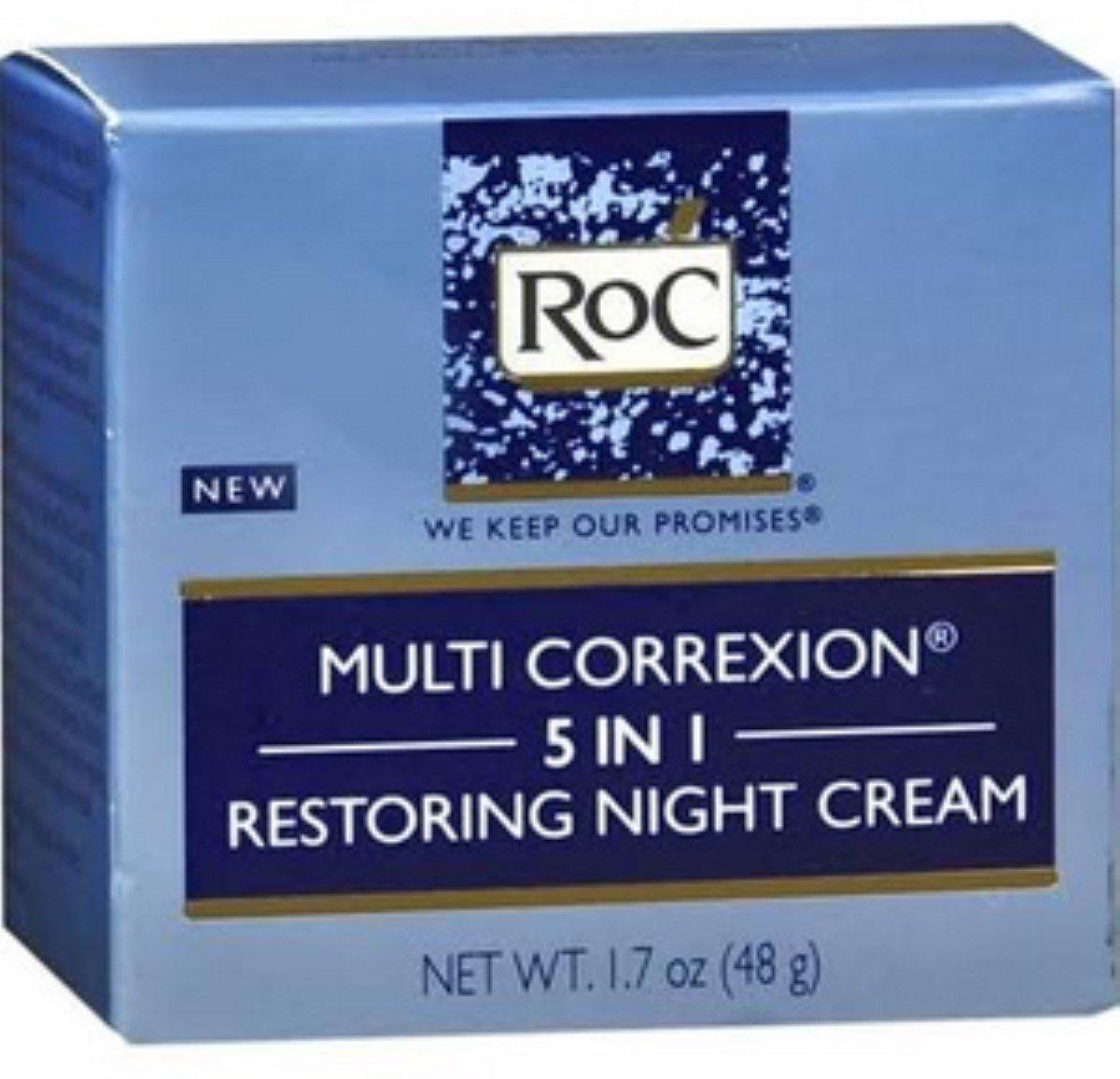RoC Multi Correxion 5 in 1 Restoring Night Cream, 1.7 oz (Pack of 2) J&J