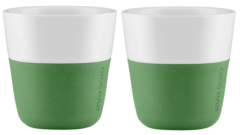 Eva Solo Botanic Green Porcelain Coffee Tumblers with Silicone Sleeve Espresso - 80ml 2pc Sets