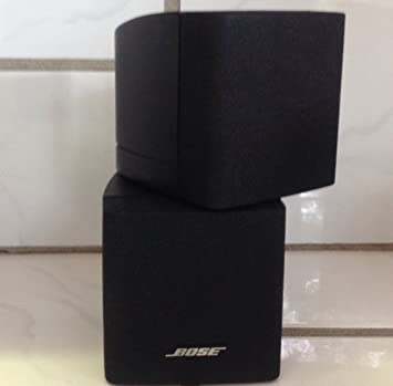 Bose Double Dual Cube Speakers Satellite Surround Lifestyle Acoustimass Black