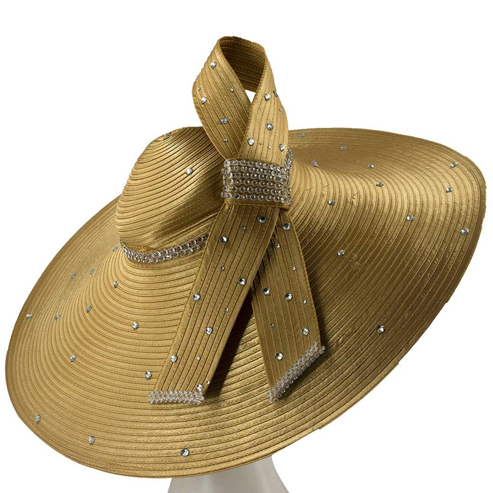 Brown5 Kueeni Women Hats Church Hats For Wedding Mother Of Bride Hats Silver