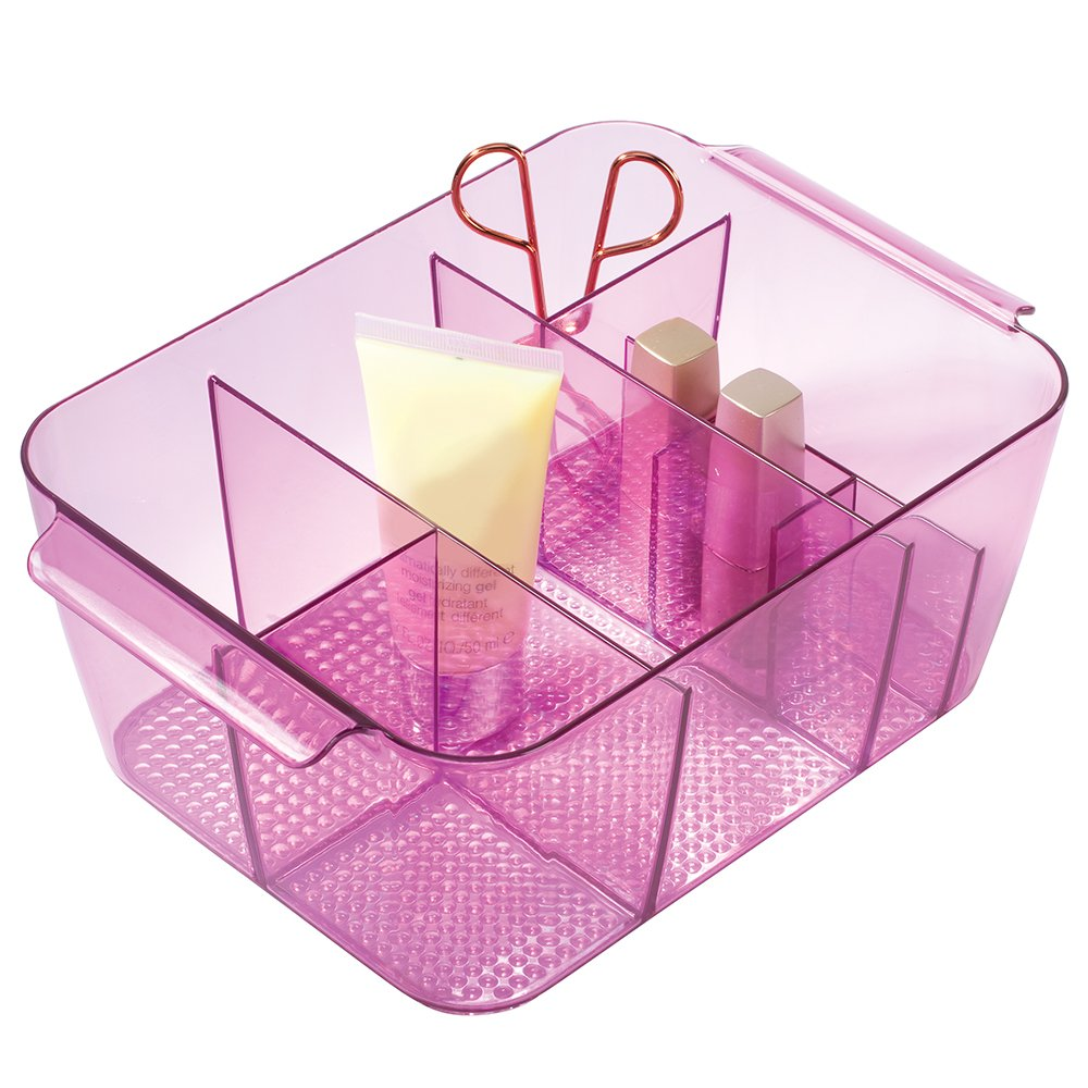 InterDesign Clarity Cosmetic Organizer for Vanity Cabinet to Hold Makeup, Beauty Products - Large, Black 35972
