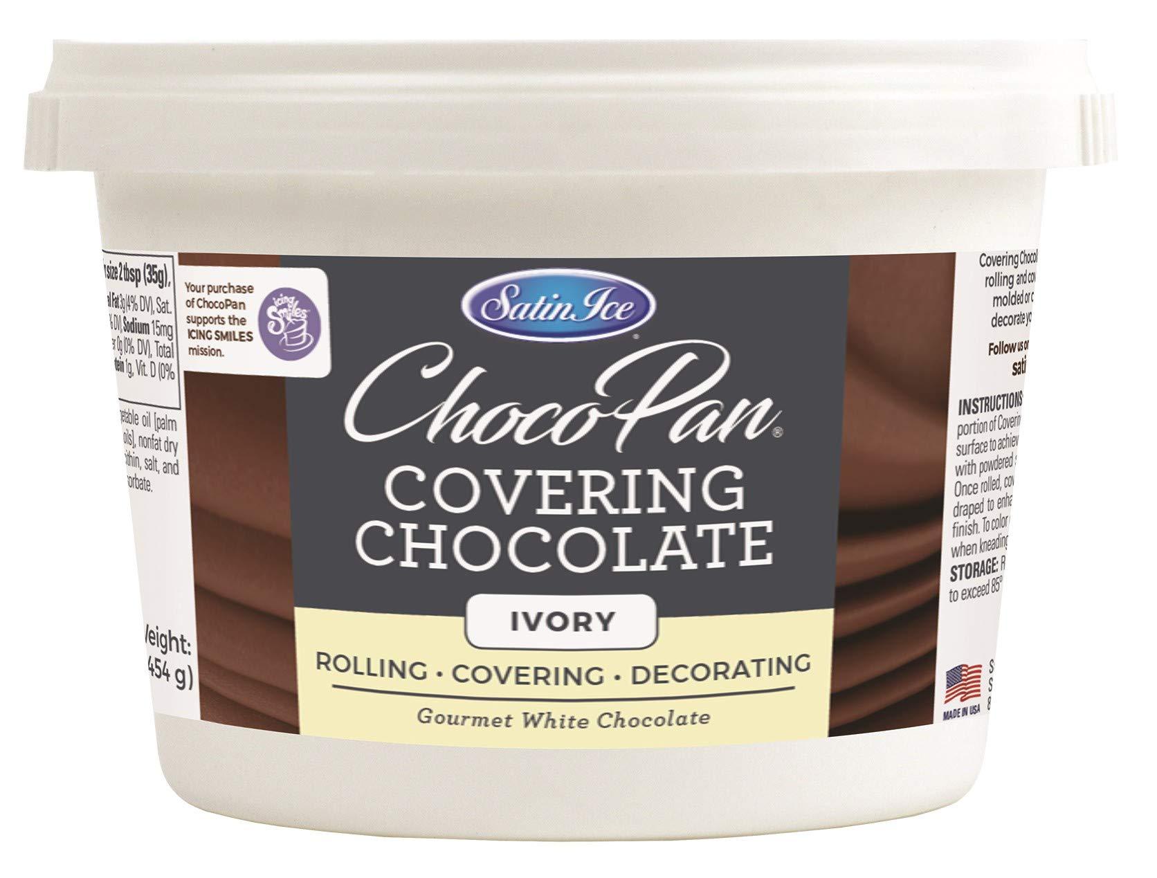 Satin Ice ChocoPan Ivory Covering Chocolate, 1 Pound