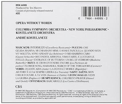 Andre Kostelanetz Columbia Symphony Orchestra New York