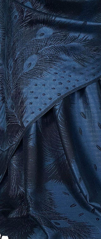 PCKPASH GFM/® Pashmina Stil Schal mit Pfauenfeder Muster Warm f/ür Herbst und Winter