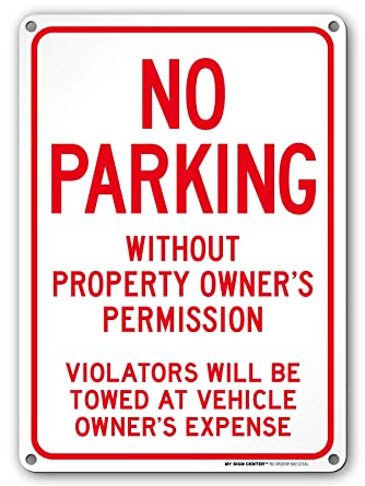 Amazon.com: Cartel No Parking Without Property Owners ...