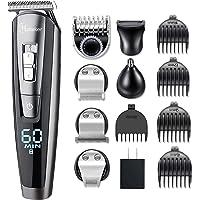 HATTEKER 5 In 1 Beard Trimmer Kit For Men Cordless Mustache Trimmer Hair Trimmer Groomer Kit Precision Trimmer Nose Hair…