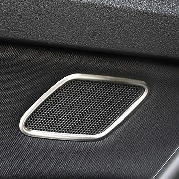 Senzeal 2pcs V W Golf 7 Tür Hochtonlautsprecher Verkleidung Innen Matt Deko Cover Trim Aus Edelstahl Auto