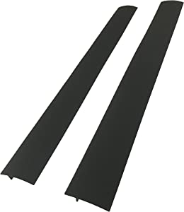 Capparis Kitchen Silicone Stove Counter Gap Cover, Easy Clean Heat Resistant Wide & Long Gap Filler, Seals Spills Between Counter, Stovetop, Oven, Washer & Dryer, Set of 2 (21 Inches, Black)
