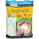 Kialla Pure Foods Organic Stoneground Wholegrain Plain Flour, 1 kg