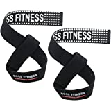 Boss Fitness Weight Lifting Gym Straps With Advanced Rubber Grip For Bodybuilding, CrossFit, Powerlifting & Strength Training With Wrist & Grip Support