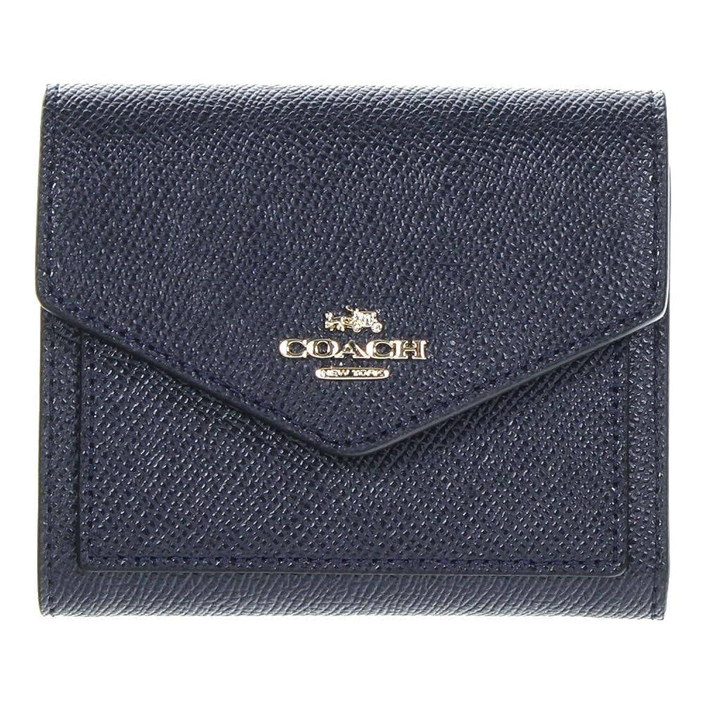 Amazon.com: COACH Women\'s Crossgrain Leather Small Wallet Li/Navy ...