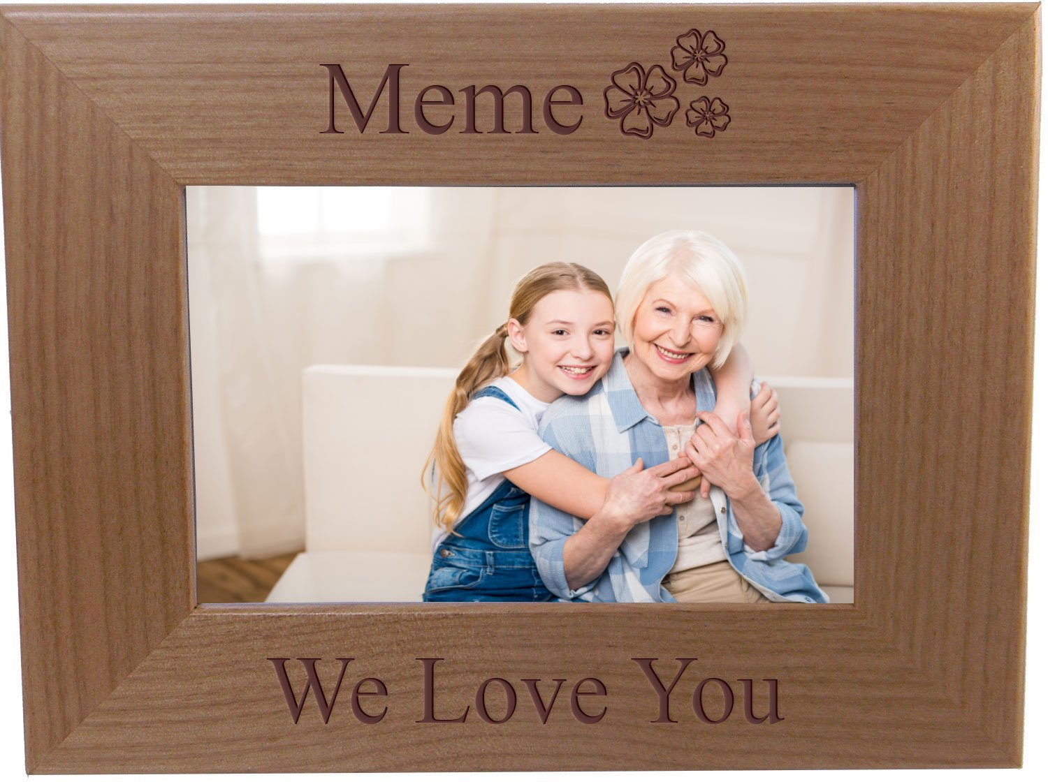Amazon.com - Meme We Love You - Engraved Wood Picture Frame - Fits ...