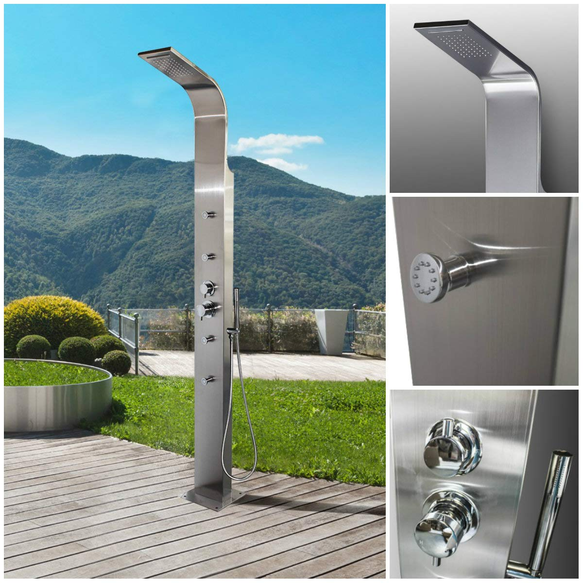 Outdoor Shower Fixtures Stainless Steel.Amazon Com 316 Marine Grade Stainless Steel Massage Outdoor