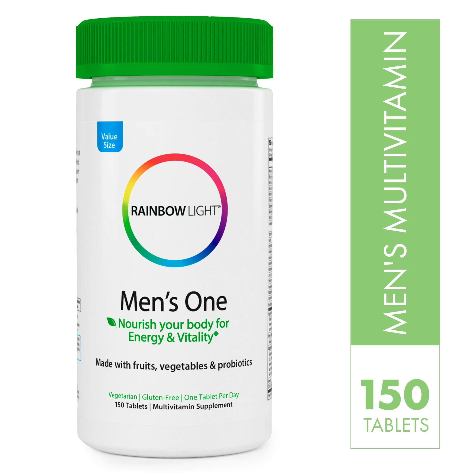 Rainbow Light Men's One Multivitamin, Once-daily Nutritional Support for Men's Health, 150 Count (Pack of 1) by Rainbow Light