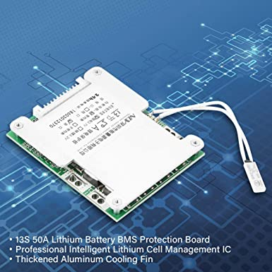 Lithium Battery Protection Board 13S 30A 3.7V Lithium Battery Charging Protection Board Precision Quick Heat Dissipation BMS PCB Board 