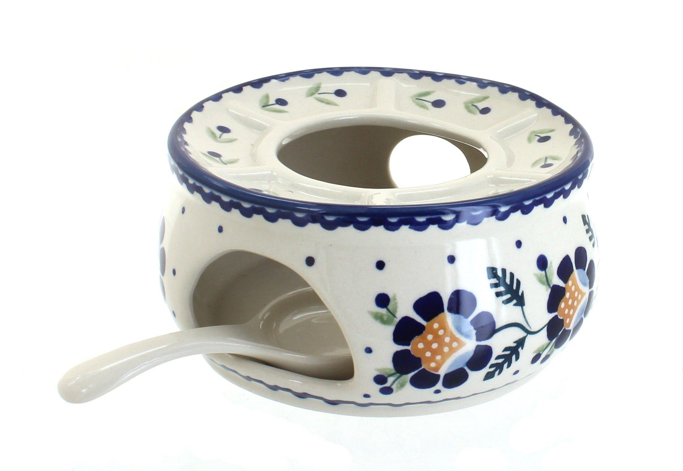 Blue Rose Polish Pottery Sunflower Teapot Warmer by Blue Rose Pottery