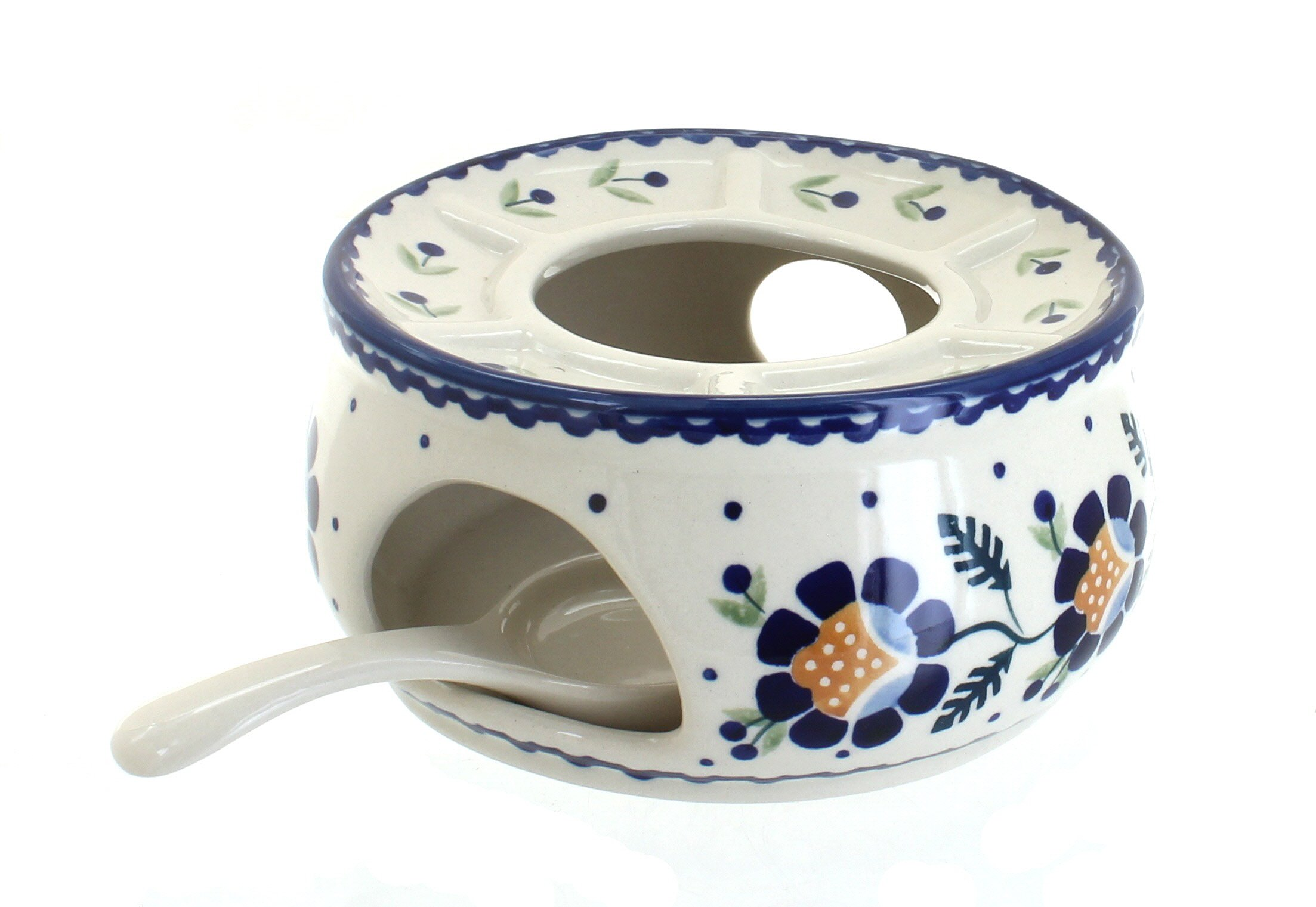Blue Rose Polish Pottery Sunflower Teapot Warmer