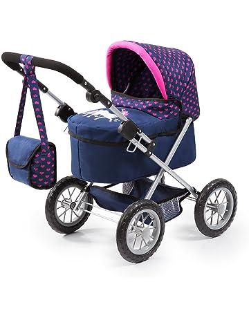 Bayer Design 13054AA Trendy - Cochecito de Muñeca con Bolsa, Ajustable, Color Azul/