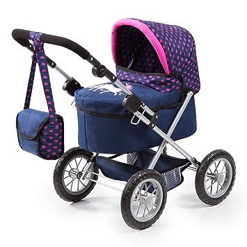Amazon.es: Bayer Design 13054AA Trendy - Cochecito de Muñeca con Bolsa, Ajustable, Color Azul/Rosa, 67 x 40 x 68 cm: Juguetes y juegos