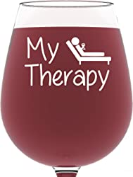 My Therapy Funny Wine Glass for Mother in Law