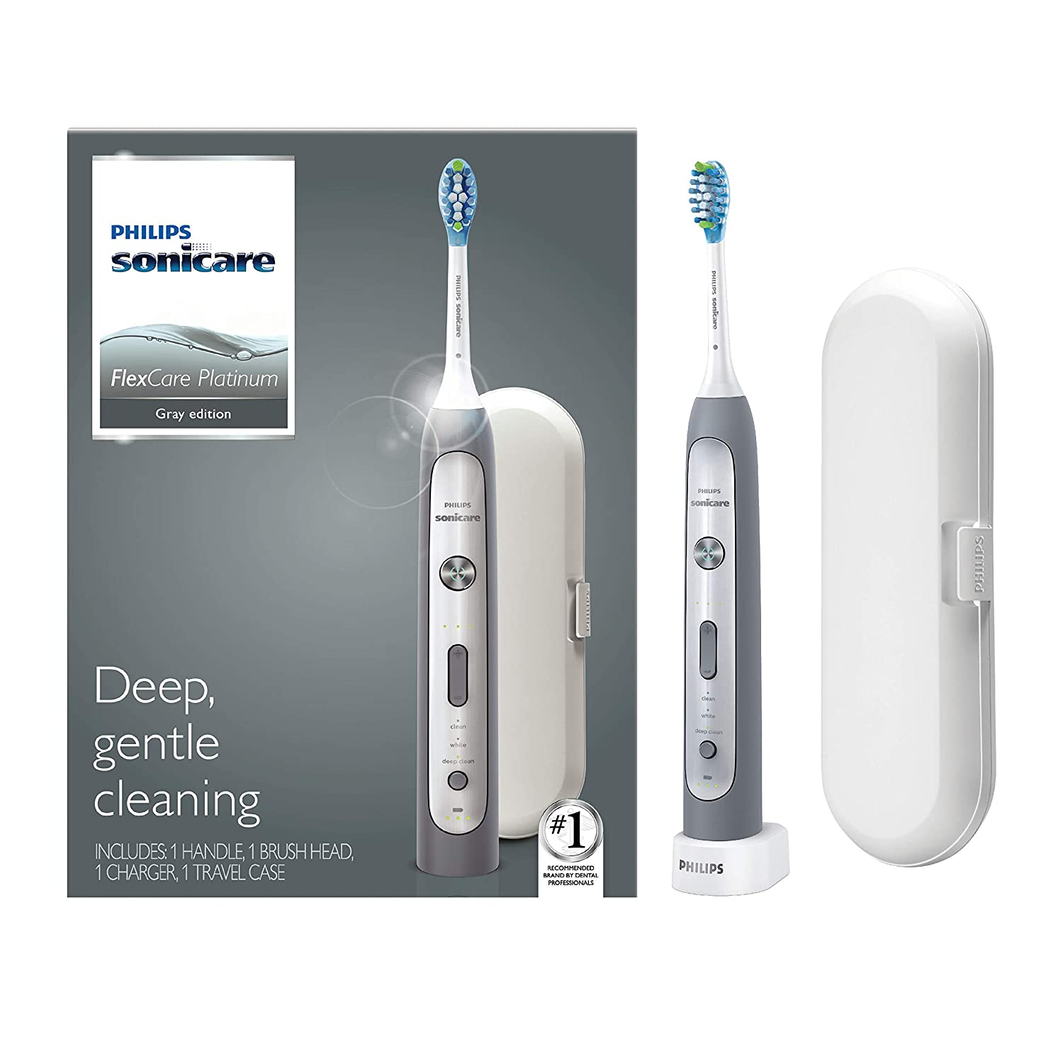 Philips Sonicare Flexcare Platinum, Electric Rechargeable Toothbrush